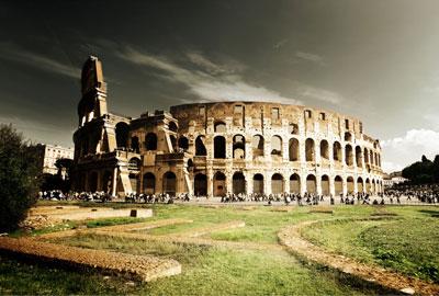 Kolosseum-Führungen - Blick vom oberen Ring