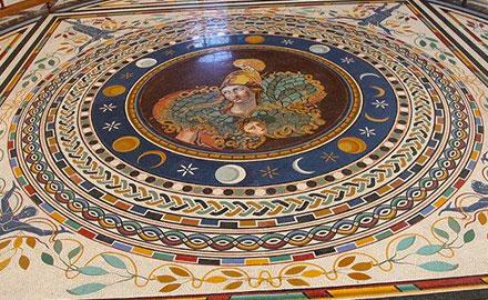 Vatikan-Führungen - Sonne, Mond und Sterne Bodenmosaik im Vatikan